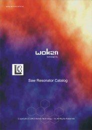 Saw Resonator Catalog