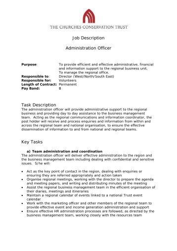 Job Description Group Office Administrator