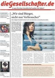 """""""Wir sind Bürger, nicht nur Verbraucher"""" - Die Gesellschafter.de"""