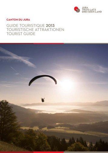 guide touristique 2013 touristische attraktionen ... - Jura Tourisme