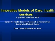 Innovative Models of Care - What is Health Services and Systems ...
