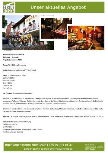 Brauhauserlebnis Arnstadt - Eventreisen - Trierischer Volksfreund