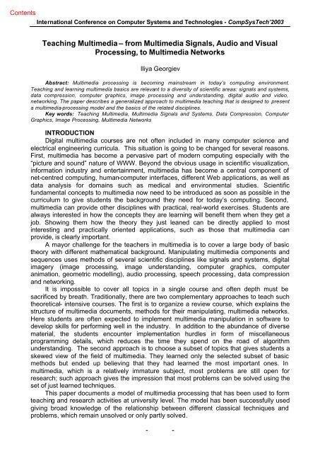 IV.11. I. Georgiev, Teaching Multimedia - Ecet
