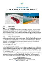 7D5N A Touch of The North Romance - AX Exotic Travels