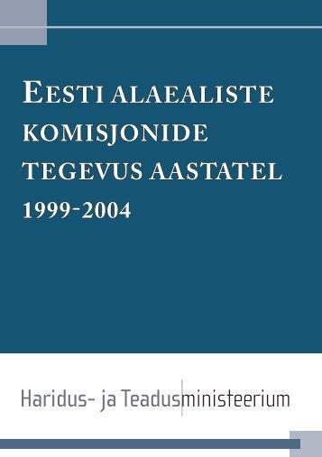 eesti alaealiste komisjonide tegevus aastatel 1999-2004