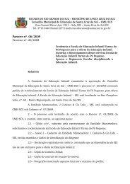 Parecer nº. 06/2009 - Prefeitura de Santa Cruz do Sul