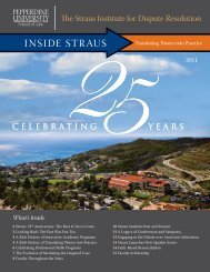 INSIDE STRAUS - Pepperdine University School of Law