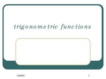 三角関数 trigonometric functions