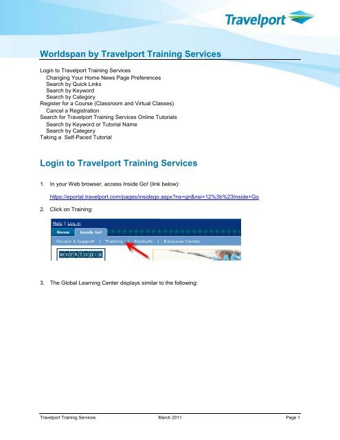 Worldspan By Travelport Training Services Global Learning