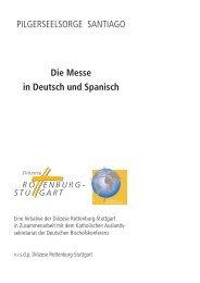 PILGERSEELSORGE SANTIAGO Die Messe in Deutsch und Spanisch