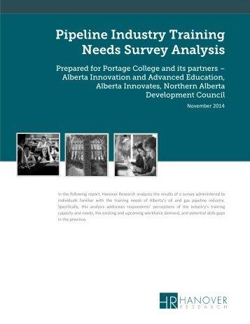 Pipeline Industry Training Needs Survey Analysis - Portage College