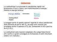 Combustione La combustione è un processo di ossidazione rapido ...