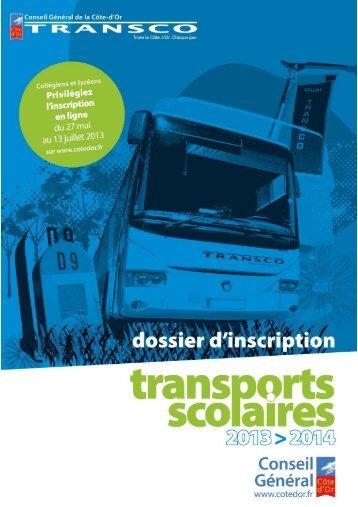 Télécharger le formulaire d'inscription aux transports scolaires 2013 ...