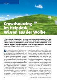 Crowdsourcing im Helpdesk – Wissen aus der Wolke - Callcenter-Profi