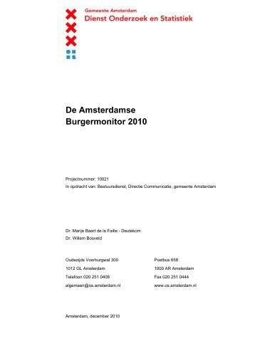 De Amsterdamse Burgermonitor 2010 - Onderzoek en Statistiek ...
