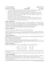 Universität Rostock Mathematik für Klausur 27. Juli.2009 Gruppe C ...
