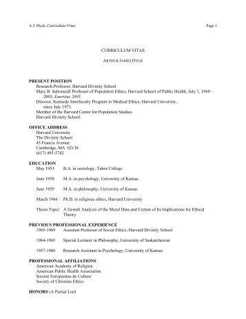 curriculum vitae july 2010 1 name brite divinity