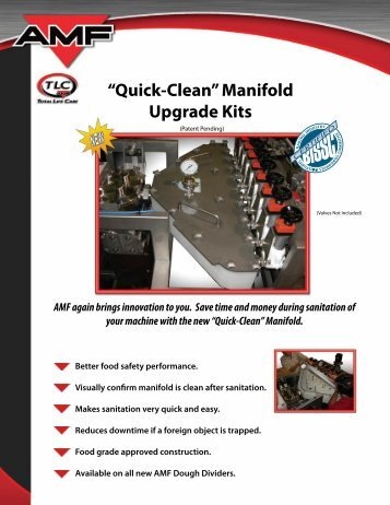"""Quick-Clean"" Manifold Upgrade Kits - AMF Bakery Systems"