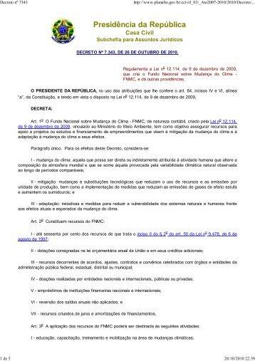 Decreto nº 7343 - Claudio Di Mauro