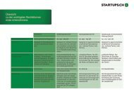 Übersicht zu den wichtigsten Rechtsformen eines ... - Startups.ch