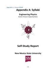 Appendix A: Syllabi Self-Study Report - Engineering Physics - New ...