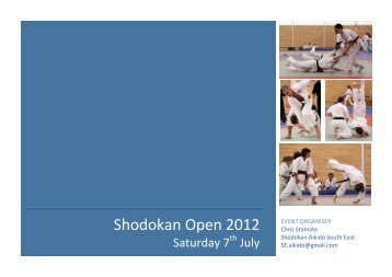 Shodokan Open 2012 - Sport Aikido GB – South East