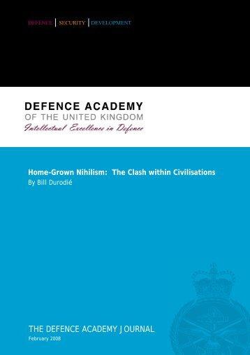 Defence Academy Journal - Bill Durodie