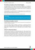 Defence Academy Journal - Bill Durodie - Page 2
