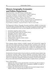 History, Geography, Economics and Politics Department