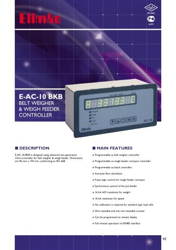 E-AC-10 BKB - Elimko