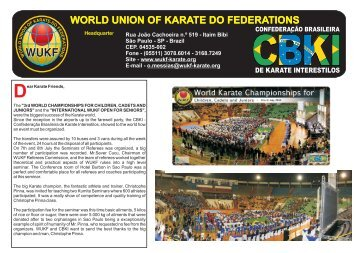 Boletim Mundial.cdr - WUKF - World Union of Karate-Do Federations