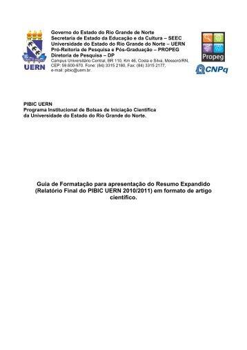 Governo do Estado do Rio Grande de Norte - UERN