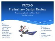 FROS-D Preliminary Design Review - Aerospace Engineering ...