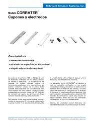 Modelo CORRATER Cupones y electrodos - Rohrback Cosasco ...