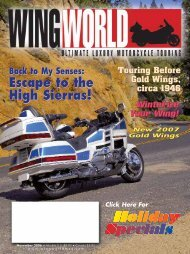 Escape to the High Sierras! - Wing World Magazine Archives