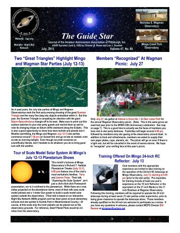 The Guide Star - Amateur Astronomers Association of Pittsburgh