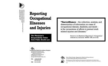 Reporting Occupational Illnesses and Injuries - Epi