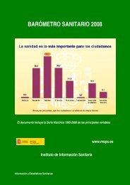 barómetro sanitario 2008 - Ministerio de Sanidad y Política Social
