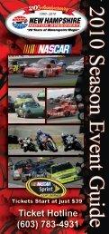 Season Brochure (PDF) - New Hampshire Motor Speedway