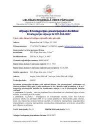 B kategorijas atļauja Nr.RIT-RB-0637 - Vides pārraudzības valsts ...