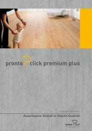 Pronto Click Premium Plus Prospekt - Naturo Kork AG