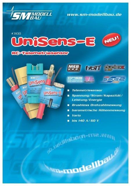 SM Anleitung UniSens-E v1.06 - SM-Modellbau