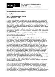 Literaturliste zur Sendung (PDF-Download: 90,1 KB) - WDR 5