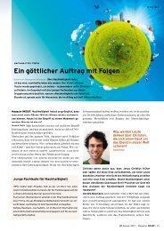 Interview im Magazin INSIST 01/13 - Grüner Fisch