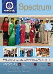 Volume 19 Number 2 (May - August 2012) - Mahidol University