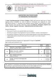 CIRD LABORATORIO MULTIDISCIPLINARE DI FORMAZIONE PER ...