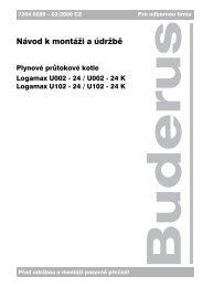 Návod k montáži a údržbě - Buderus