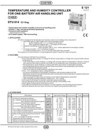 TEMPERATURE AND HUMIDITY CONTROLLER FOR ONE ... - Coster