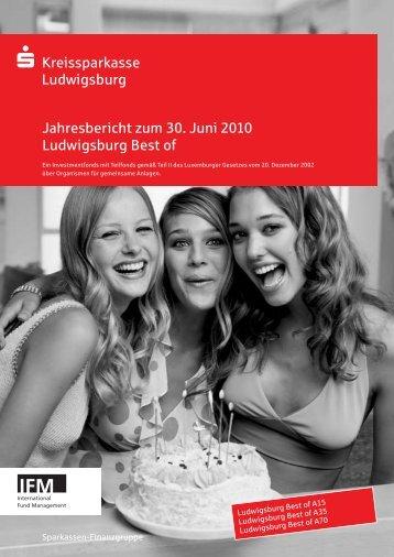 Ludwigsburg Best of, Jahresbericht - Kreissparkasse Ludwigsburg