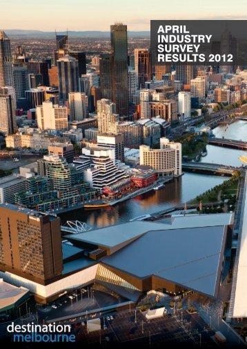 APRIL IndustRy suRvey ResuLts 2012 - Destination Melbourne
